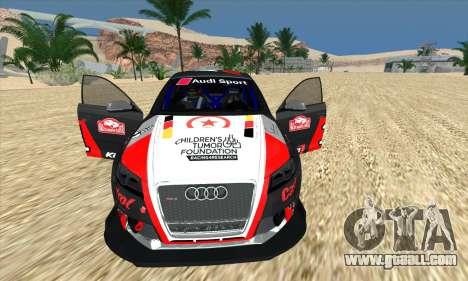 Audi RS3 Sportback Rally WRC for GTA San Andreas bottom view