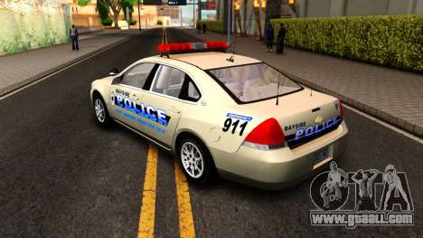 2007 Chevy Impala Bayside Police for GTA San Andreas right view