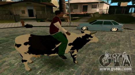 Riding on the cow for GTA San Andreas third screenshot