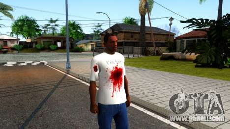 White I am Fine T-Shirt for GTA San Andreas second screenshot