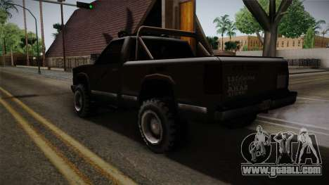 Yosemite Off-Road for GTA San Andreas back left view