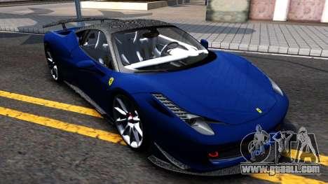 Ferrari 458 Italia Tune for GTA San Andreas