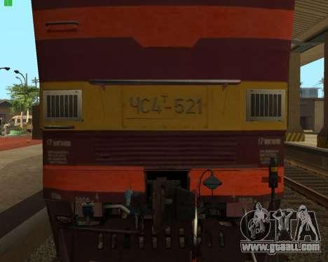 Passenger locomotive CHS4t-521 for GTA San Andreas inner view