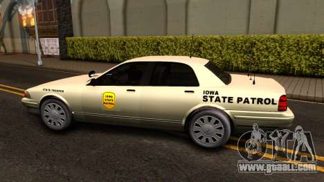 Brute Stanier Slicktop 2009 Iowa State Patrol for GTA San Andreas left view