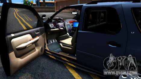 Chevy Tahoe Metro Police Unmarked 2012 for GTA San Andreas back view