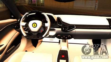 Ferrari 458 Italia Tune for GTA San Andreas inner view