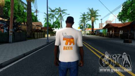 White Beer T-Shirt for GTA San Andreas third screenshot