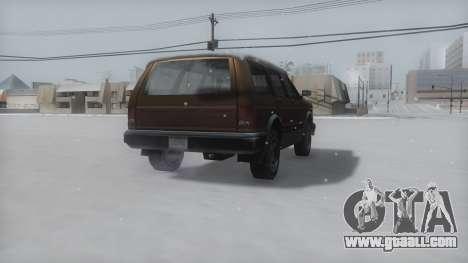Landstalker Winter IVF for GTA San Andreas back left view