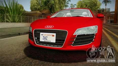 Audi R8 Coupe 4.2 FSI quattro EU-Spec 2008 YCH2 for GTA San Andreas side view