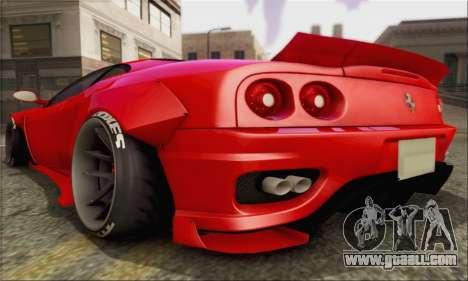 Ferrari 360 LB Work for GTA San Andreas right view