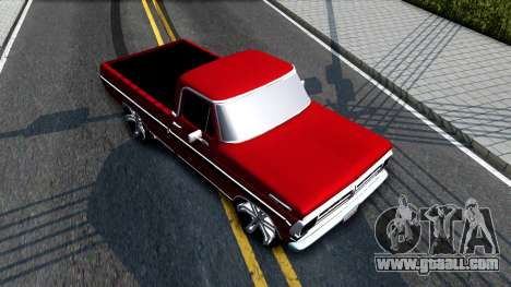 Ford F100 1975 for GTA San Andreas back view