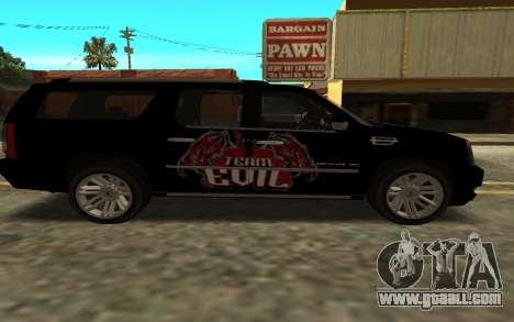 Cadillac Escalade for GTA San Andreas back left view