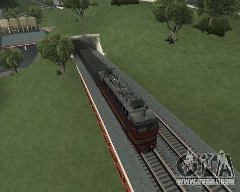 Passenger locomotive CHS4t-521 for GTA San Andreas interior