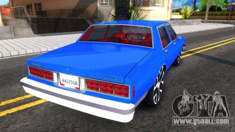Chevrolet Caprice 1987 Tuning for GTA San Andreas right view