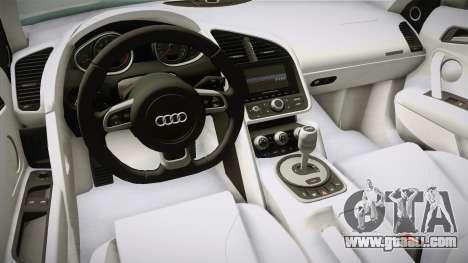 Audi R8 Coupe 4.2 FSI quattro US-Spec v1.0.0 v4 for GTA San Andreas inner view