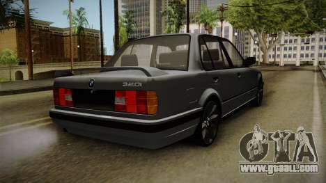 BMW M3 E30 Edit v1.0 for GTA San Andreas back left view