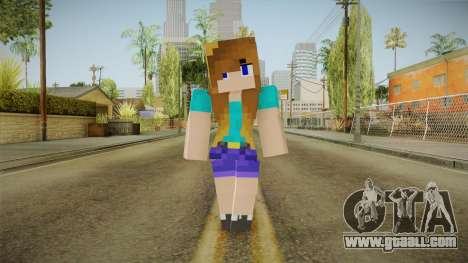 Minecraft - Stephanie for GTA San Andreas second screenshot
