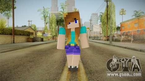 Minecraft - Stephanie for GTA San Andreas second screenshot