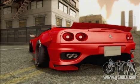 Ferrari 360 LB Work for GTA San Andreas side view