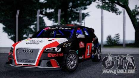 Audi RS3 Sportback Rally WRC for GTA San Andreas left view