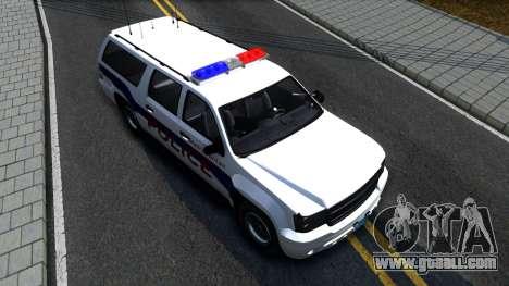 Declasse Granger Metropolitan Police 2012 for GTA San Andreas back view