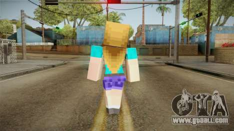 Minecraft - Stephanie for GTA San Andreas third screenshot