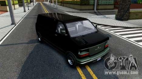 GTA V Declasse Burrito for GTA San Andreas back view