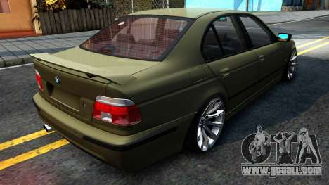 BMW 530D E39 for GTA San Andreas back left view