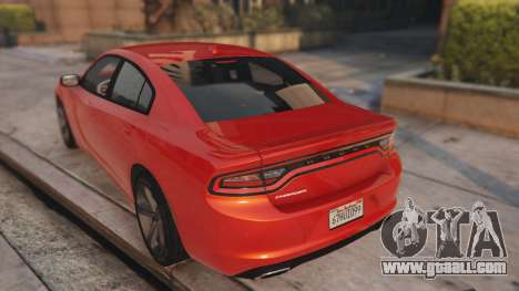 GTA 5 Dodge Charger Hellcat rear left side view
