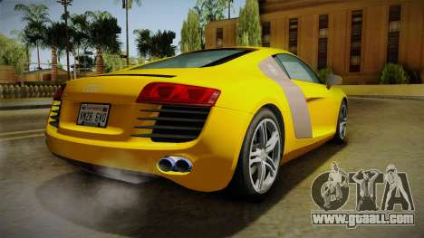 Audi R8 Coupe 4.2 FSI quattro EU-Spec 2008 Dirt for GTA San Andreas left view
