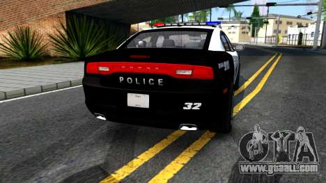 Dodge Charger Rittman Ohio Police 2013 for GTA San Andreas back left view