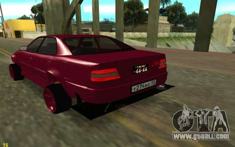 Toyota Chaser Sport for GTA San Andreas back left view
