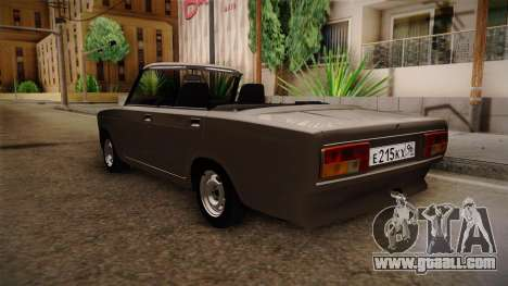 VAZ 2105 Convertible for GTA San Andreas back left view