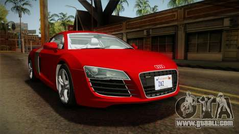 Audi R8 Coupe 4.2 FSI quattro EU-Spec 2008 YCH2 for GTA San Andreas right view