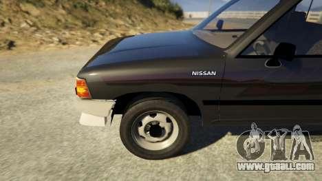 GTA 5 Nissan Datsun 1985 rear right side view