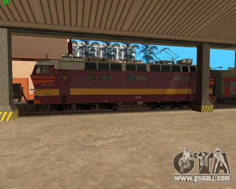 Passenger locomotive CHS4t-521 for GTA San Andreas upper view