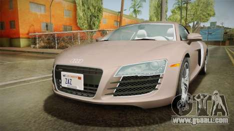 Audi R8 Coupe 4.2 FSI quattro US-Spec v1.0.0 v4 for GTA San Andreas back left view