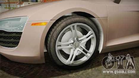 Audi R8 Coupe 4.2 FSI quattro US-Spec v1.0.0 v4 for GTA San Andreas back view