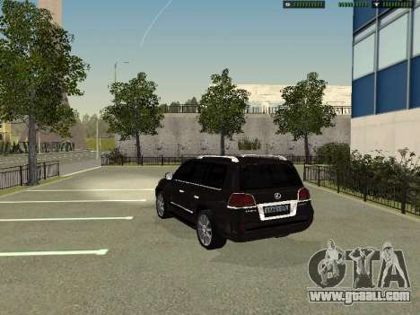Lexus LX 570 2011 for GTA San Andreas left view