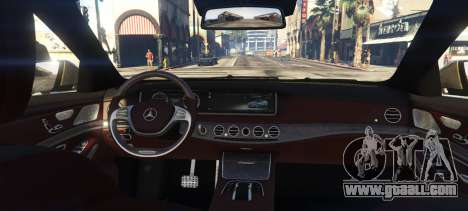 GTA 5 Mercedes-Benz S65 W222 rear left side view