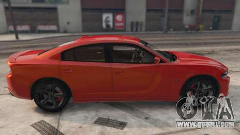 GTA 5 Dodge Charger Hellcat left side view