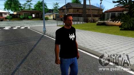 T-Shirt Watch Dogs 2 for GTA San Andreas second screenshot
