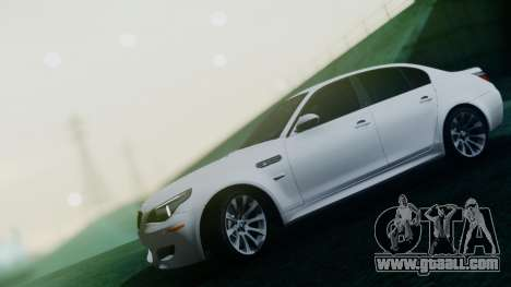 BMW M5 E60 for GTA San Andreas upper view