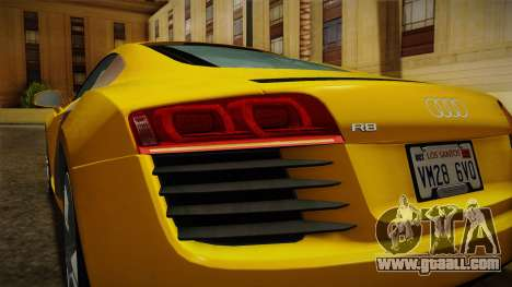 Audi R8 Coupe 4.2 FSI quattro EU-Spec 2008 Dirt for GTA San Andreas interior