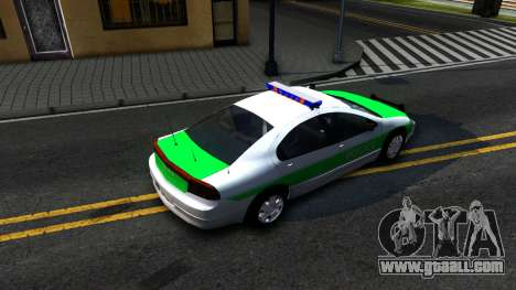 Dodge Intrepid German Police 2003 for GTA San Andreas back view