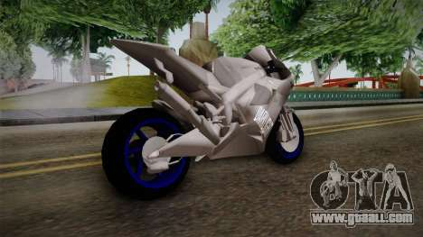 Dark Light Motorcycle for GTA San Andreas left view