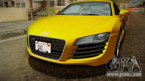 Audi R8 Coupe 4.2 FSI quattro EU-Spec 2008 Dirt for GTA San Andreas side view