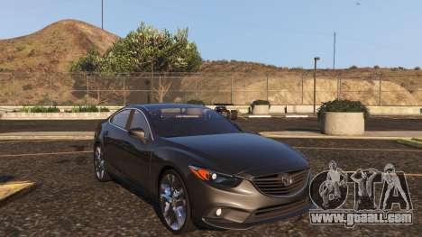 GTA 5 Mazda 6 2016 back view