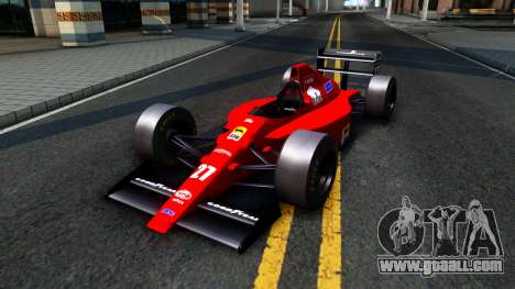 Ferrari 640 F1 1989 for GTA San Andreas