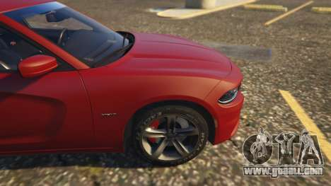GTA 5 Dodge Charger Hellcat right side view